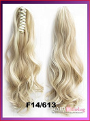 #F14/613 Wavy Claw Hair Ponytail Hair Pieces