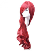 Hosee Women's Ladies 80cm/32 inch Red Curly Full Wigs For Anime Cosplay and Daily Use
