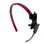 Doggy Hair Bands Hot Pink/Black