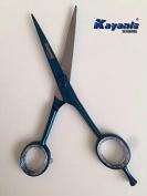 Hairdressing Scissor Titanium blue 15cm Japanese Steel 420