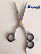 Hairdressing Scissor 3 holes grip mirror finish 17cm Japanese Steel 420.