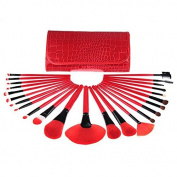 New Red Makeup Brushes Set 24 pcs/set 24pcs Makeup Brushes Professional Makeup Tools Brand Cosmetics Facial Brushes
