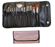 BABY PINK - 16pc BEAUTY MAKE UP BRUSH SET & BAG.