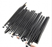 High Quality Black 20pcs Make Up Brushes Set Multi Function Foundation Eyeshadading Eyeliner Cosmetic Tool