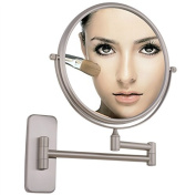 GuRun 20cm Antique Double-Sided Wall Mount Makeup Mirrors With 7X Magnification,Nickel Finish M1406N