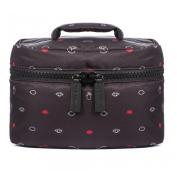 Lulu Guinness Mini Icons Cosmetic Vanity Case Black