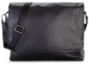 LEABAGS OXFORD Genuine Leather Vintage Flapover Satchel Shoulder Bag