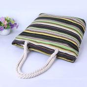 Millya Canvas Travel Tote Bag Oversized Shoulder Bag 34cm Beach Bag