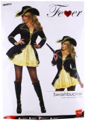 Smiffy's Fever Swashbuckler Jacket with Attached Dress - Medium