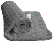 Wallaboo Baby Blanket Noa, 100% Organic Cotton, For Pram, Car Seat, Moses Basket, Crib, Size 90 x 70 cm, Colour
