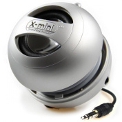 XMI X-Mini II 2nd Generation Capsule Speaker with 3.5mm Jack Compatible with iPhone/iPad/iPod/Smartphones/Tablets/MP3 Player/Laptop - Silver