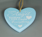 Large Hanging Little Boys Babies Gift Christening Newborn Present LITTLE ANGEL