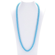 Prenatal Teether Breastfeeding Silicone Necklace for Moms and Babies - Blue