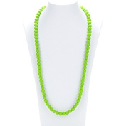 Prenatal Teether Breastfeeding Silicone Necklace for Moms and Babies - Colour Green