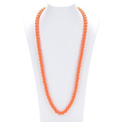 Prenatal Teether Breastfeeding Silicone Necklace for Moms and Babies - Colour Orange