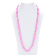 Prenatal Teether Breastfeeding Silicone Necklace for Moms and Babies - Colour Pink