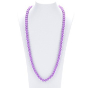Prenatal Teether Breastfeeding Silicone Necklace for Moms and Babies - Colour Purple
