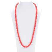 Prenatal Teether Breastfeeding Silicone Necklace for Moms and Babies - Colour Red