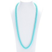 Prenatal Teether Breastfeeding Silicone Necklace for Moms and Babies - Colour Turquoise