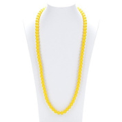 Prenatal Teether Breastfeeding Silicone Necklace for Moms and Babies - Colour Yellow