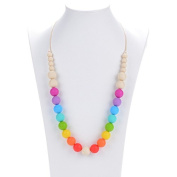 Prenatal Teether Breastfeeding Silicone Necklace for Moms and Babies - Multicolor