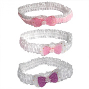 Pack of 3 Baby Girls Headbands With Bows