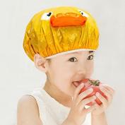 PVC Cartoons Kid Girls Boys waterproof shower cap ,yellow