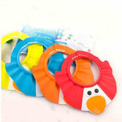Children shampoo cap shower cap adjustable thickening waterproof shower cap to protect the eyes,red