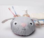 Love Cartoons grey rabbit waterproof shower cap cap adult children generic,grey