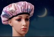 Thick waterproof anti-smoke female models bath cap,pink