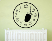 60cm Baby Clock Face Infant Wall Decal Sticker Art Mural Home Décor Quote
