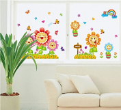 Beautiful Sunflowers Leaves Butterflies Wall Decal Home Sticker Paper Removable Living Dinning Room Bedroom Kitchen Art Picture Murals DIY Stick Girls Boys kids Nursery Baby Playroom Decoration
