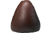 Extra Large Pear Leather Effect Beanbag - Chocolate.