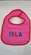 """Isla"" named baby bib"
