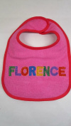 """Florence"" named baby bib"