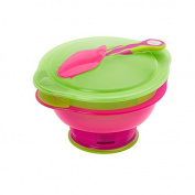 Vital Baby travel suction bowl with lid and spoon