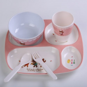 Cartoon child Dinnerware Set, bowl spoon Cups Divided Melamine Dinner plate,1-style
