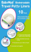 BabyMad® Disposable Travel Potty Liner (Pack of 10) - ECO Friendly Biodegradeable