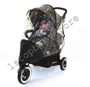 1Stopbaby Travel Raincover To Fit Phil & Teds Dot Double Rain Cover Weather Shield