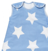 Baby Sleeping Bag, Blue with White Stars 6-18 months, 2.5 Tog