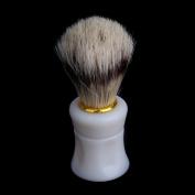 Anself 1pcs Shaving Shave Brush Plastic Handle and Pig Boar Bristle Beard Moustache Brush