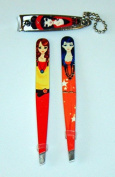 Kikkerland Glam Girl Tweezers and Petite Nail Clippers Set - Samantha & Sue