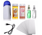 Electric Depilatory Waxing Machine Kit Cartridge Heater Roller Strips Hair Removal by GokuStore