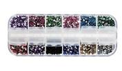 Demarkt 12 Colours. Manicure Nail Art Decoration Nail Sequin Glitter Metal Shiny Powder