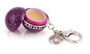 Purple Circles - Twist and Pout Lip Balm Ball - Gem Clip