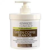 Crema De El Cafe Verde Para Eliminar La Celulitis - Crema Adelgazante Anticelulitis - Hidrata La Piel - Tratamiento 16 Onzas