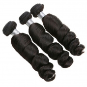 Newness Loose Wave Unprocessed Brazilian Virgin Hair 3 Bundles Mixed Length 7A Human Hair Weave 60cm