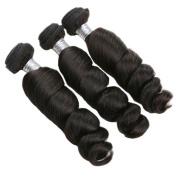 Newness Loose Wave Unprocessed Brazilian Virgin Hair 3 Bundles Mixed Length 7A Human Hair Weave 60cm