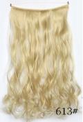 Lola Hair 3/4 Full Head micro ring colour hair extensions blonde 613# Natral wave hair pieces