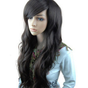 Cexin Curly Cosplay/Party Wig Long Hair Heat Resistant Women's Hair Wig